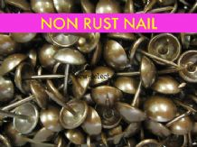 100 UPHOLSTERY NAILS - Non rust antique on solid brass